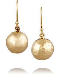 Ippolita - Metallic Glamazon Mini Hammered 18-karat Gold Earrings - Lyst
