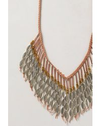 Anthropologie - Metallic Cowrie Fringe Necklace - Lyst