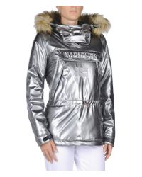 Napapijri - Metallic Fur-Trimmed Anorak  - Lyst