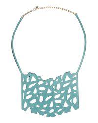 Oblique - Blue Necklace - Lyst