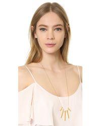 Rebecca Minkoff - Metallic Long Bead Bar Necklace - Lyst