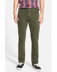 RVCA | Green 'daggers' Slim Fit Jeans for Men | Lyst