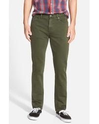 RVCA - Green 'daggers' Slim Fit Jeans for Men - Lyst