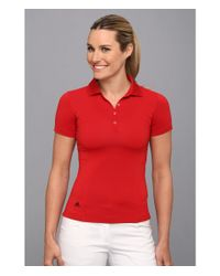 Adidas   Red Solid Jersey Polo '15   Lyst