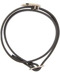 McQ | Black Leather Swallow Charm Bracelet | Lyst