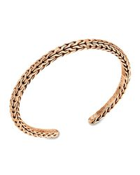 John Hardy - Metallic Mens Classic Chain Bronze Slim Kick Cuff for Men - Lyst
