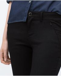 Zara | Black Powerstretch Skinny Trousers | Lyst