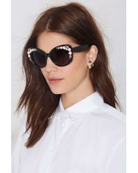 Nasty Gal | Black Aria Cat-Eye Shades | Lyst