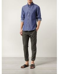 Engineered Garments - Blue Classic Denim Shirt for Men - Lyst