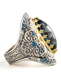 Konstantino - London Blue Topaz Ring - Lyst