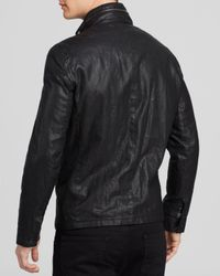 John Varvatos Black Collection Zip & Tape Jacket for men