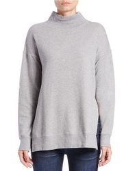 Free People | Gray Jolene Cotton Pullover | Lyst