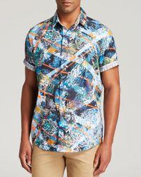 Robert Graham - Blue Fair Wind Short Sleeve Button Down Shirt - Classic Fit for Men - Lyst
