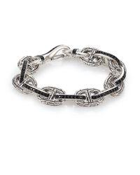 John Hardy | Metallic Classic Chain Sterling Silver & Black Sapphire Link Bracelet | Lyst
