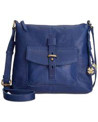 Lucky Brand | Blue Medine Leather Top Zip Crossbody | Lyst