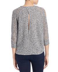 Jessica Simpson - Black Hanson Cold-shoulder Sweater - Lyst