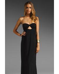 Boulee Black Zoe Strapless Maxi Dress
