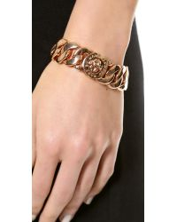 Marc By Marc Jacobs Pink Classic Marc Turnlock Katie Bracelet