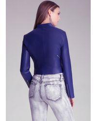 Bebe Blue Kimmie Cropped Jacket