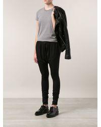 Acne Studios Black Draped Legging Trousers