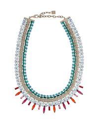 DANNIJO - Metallic Keira Gunmetal-Plated Swarovski Crystal Necklace - Lyst
