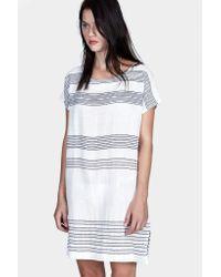 lemlem - Blue Shora Tee Dress - Lyst