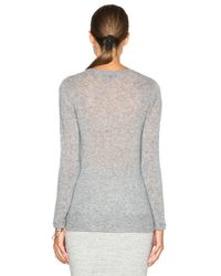 James Perse Gray Cashmere V Neck Sweater