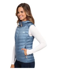 The North Face   Blue Tonnerro Hooded Vest   Lyst