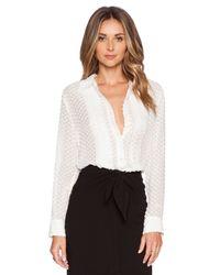 Jenni Kayne | White Pleat Shirt | Lyst