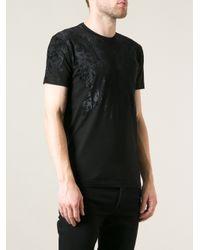 Dolce & Gabbana Black Floral Printed T-Shirt for men