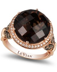 Le Vian - Pink Smokey Quartz (8 Ct. T.w.) And Diamond (3/4 Ct. T.w.) Ring In 14k Rose Gold - Lyst