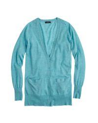 J.Crew - Blue Classic Merino Wool Long Cardigan Sweater - Lyst