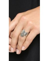 Pamela Love - Metallic Aguila Ring - Silver - Lyst