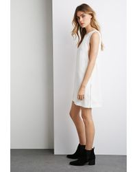 Forever 21 - White Side Zipper Shift Dress - Lyst