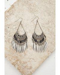 Forever 21 | Metallic Beaded Chandelier Duster Earrings | Lyst