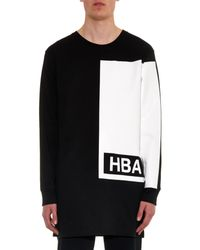 Hood By Air Black Illusion Block-Print Cotton-Jersey Top for men