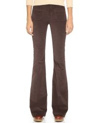 Hudson Jeans - Brown Taylor High Waist Corduroy Flares - Lyst