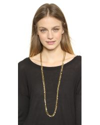 Serefina - Metallic Circle Duo Necklace - Gold - Lyst