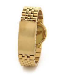 House of Harlow 1960 | Metallic Sunburst Watch Bracelet - Black/Gold | Lyst