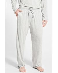 Daniel Buchler Gray Pima Cotton & Modal Lounge Pants for men
