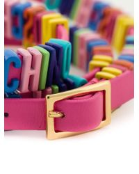 Moschino - Multicolor Logo Plaque Bracelet - Lyst