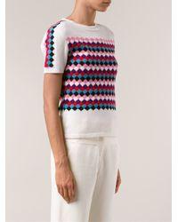 Olympia Le-Tan - White 'Radium' Knit Twin Set - Lyst