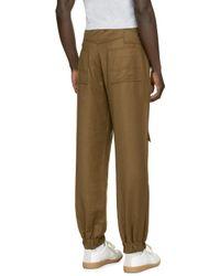 Gosha Rubchinskiy Green Wool Trousers for men