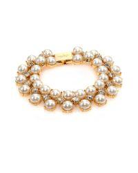 kate spade new york Metallic Twinkling Fete Crystal & Faux Pearl Bracelet
