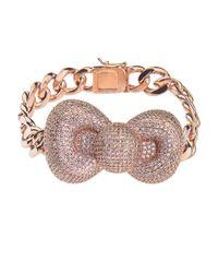Noir Jewelry - Pink Bow Hello Kitty Bracelet - Lyst
