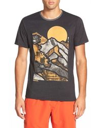 Bench | Black 'mountain Lines' Graphic Crewneck T-shirt for Men | Lyst