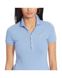 Polo Ralph Lauren - Blue Skinny-fit Stretch Polo Shirt - Lyst
