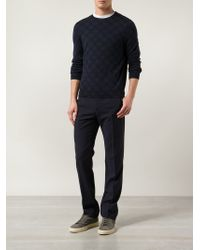 A.P.C. | Blue Graphic Print Sweater for Men | Lyst
