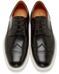 KENZO Black Clevin Austerity Brogues for men