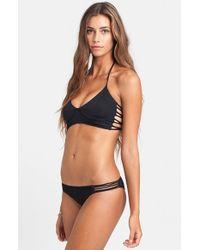 Billabong - Black 'sol Searcher Costa' Bikini Top - Lyst